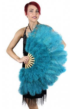 Aqua Blue Ostrich and Marabou Feather Fan Stripper Plus Clubwear Stripper Clothes, Exotic Dancewear, Sexy Club Wear, Extreme Platform Shoes