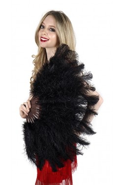Black Ostrich Floss Feather Large Fan Stripper Plus Clubwear Stripper Clothes, Exotic Dancewear, Sexy Club Wear, Extreme Platform Shoes