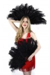 Black Ostrich Floss Feather Large Fan at Stripper Plus Clubwear, Stripper Clothes, Exotic Dancewear, Sexy Club Wear, Extreme Platform Shoes