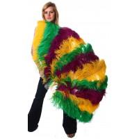 Mardis Gras Ostrich Feather Full Body Fan