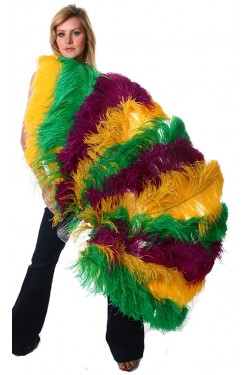 Mardis Gras Ostrich Feather Full Body Fan Stripper Plus Clubwear Stripper Clothes, Exotic Dancewear, Sexy Club Wear, Extreme Platform Shoes