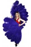 Purple Ostrich Feather Full Body Fan at Stripper Plus Clubwear, Stripper Clothes, Exotic Dancewear, Sexy Club Wear, Extreme Platform Shoes