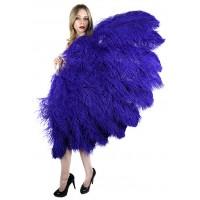Purple Ostrich Feather Full Body Fan