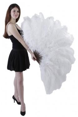 White Ostrich Feather Xtra Large Fan Stripper Plus Clubwear Stripper Clothes, Exotic Dancewear, Sexy Club Wear, Extreme Platform Shoes
