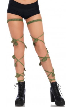 Poison Ivy Leg Wraps Stripper Plus Clubwear Stripper Clothes, Exotic Dancewear, Sexy Club Wear, Extreme Platform Shoes
