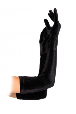 Black Velvet Opera Gloves Stripper Plus Clubwear Stripper Clothes, Exotic Dancewear, Sexy Club Wear, Extreme Platform Shoes
