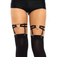 Black Heart Leg Garters