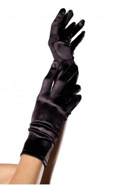 Black Wrist Length Satin Gloves Stripper Plus Clubwear Stripper Clothes, Exotic Dancewear, Sexy Club Wear, Extreme Platform Shoes