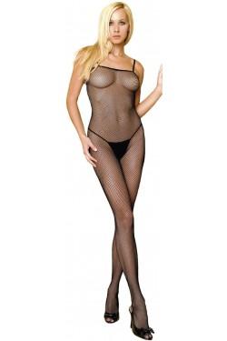 Seamless Spaghetti Strap Fishnet Bodystocking Stripper Plus Clubwear Stripper Clothes, Exotic Dancewear, Sexy Club Wear, Extreme Platform Shoes