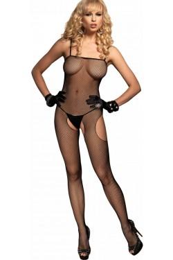 Spaghetti Strap Fishnet Suspender Bodystocking Stripper Plus Clubwear Stripper Clothes, Exotic Dancewear, Sexy Club Wear, Extreme Platform Shoes