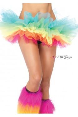 Rainbow Organza Tutu Petticoat Stripper Plus Clubwear Stripper Clothes, Exotic Dancewear, Sexy Club Wear, Extreme Platform Shoes
