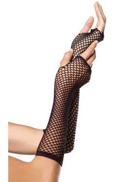 Black Triangle Net Fingerless Gloves Stripper Plus Clubwear Stripper Clothes, Exotic Dancewear, Sexy Club Wear, Extreme Platform Shoes