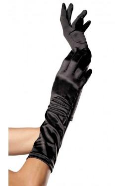 Black Satin Elbow Length Gloves Stripper Plus Clubwear Stripper Clothes, Exotic Dancewear, Sexy Club Wear, Extreme Platform Shoes
