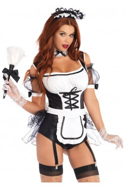 Merry Maid Sexy Womens Halloween Costume Stripper Plus Clubwear Stripper Clothes, Exotic Dancewear, Sexy Club Wear, Extreme Platform Shoes