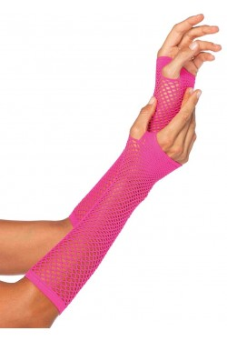 Neon Pink Triangle Net Fingerless Gloves Stripper Plus Clubwear Stripper Clothes, Exotic Dancewear, Sexy Club Wear, Extreme Platform Shoes