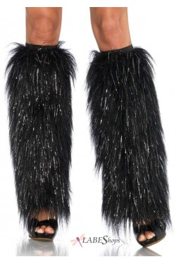 Fun Fur Sparkle Leg Warmers Stripper Plus Clubwear Stripper Clothes, Exotic Dancewear, Sexy Club Wear, Extreme Platform Shoes