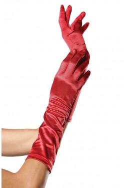 Red Satin Elbow Length Gloves Stripper Plus Clubwear Stripper Clothes, Exotic Dancewear, Sexy Club Wear, Extreme Platform Shoes