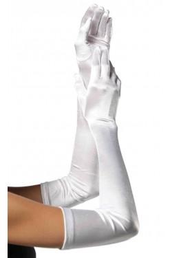 Satin Extra Long White Bridal Opera Gloves Stripper Plus Clubwear Stripper Clothes, Exotic Dancewear, Sexy Club Wear, Extreme Platform Shoes