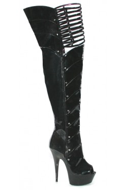 Katrina Peep Toe Thigh High Platform Boots Stripper Plus Clubwear Stripper Clothes, Exotic Dancewear, Sexy Club Wear, Extreme Platform Shoes