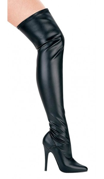 Ally Black Thigh High 5 Inch Heel Boot at Stripper Plus Clubwear, Stripper Clothes, Exotic Dancewear, Sexy Club Wear, Extreme Platform Shoes