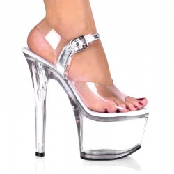 Treasure Chest Clear Extreme Platform Sandal Stripper Plus Clubwear Stripper Clothes, High Heels, Dance Costumes, Sexy Club Wear