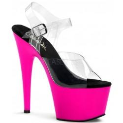 Neon Pink Platform Adore High Heel Sandals Stripper Plus Clubwear Stripper Clothes, High Heels, Dance Costumes, Sexy Club Wear
