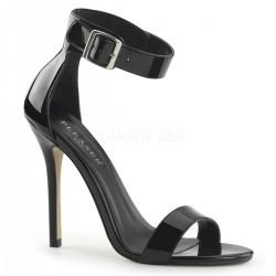 Amuse Black Ankle Strap Sandal Stripper Plus Clubwear Stripper Clothes, High Heels, Dance Costumes, Sexy Club Wear