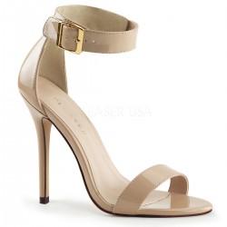Amuse Cream Ankle Strap Sandal Stripper Plus Clubwear Stripper Clothes, High Heels, Dance Costumes, Sexy Club Wear