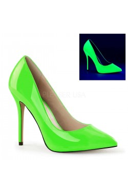 Amuse Neon Green 5 Inch High Heel Pump Stripper Plus Clubwear Stripper Clothes, Exotic Dancewear, Sexy Club Wear, Extreme Platform Shoes