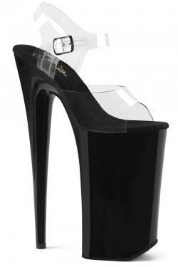 Beyond Extreme Black 10 Inch High Sandal Stripper Plus Clubwear Stripper Clothes, Exotic Dancewear, Sexy Club Wear, Extreme Platform Shoes
