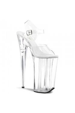 Beyond Extreme Clear 10 Inch High Sandal Stripper Plus Clubwear Stripper Clothes, Exotic Dancewear, Sexy Club Wear, Extreme Platform Shoes