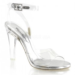 Clearly Beautiful Ankle Strap Sandal Stripper Plus Clubwear Stripper Clothes, High Heels, Dance Costumes, Sexy Club Wear
