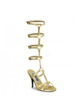 Roman Gold Gladiator Mule Sandal Stripper Plus Clubwear Stripper Clothes, Exotic Dancewear, Sexy Club Wear, Extreme Platform Shoes