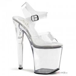 Clear Xtreme 8 Inch High Platform Sandal Stripper Plus Clubwear Stripper Clothes, High Heels, Dance Costumes, Sexy Club Wear