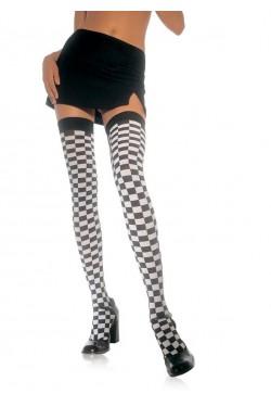 Checkerboard Thigh High Stockings Stripper Plus Clubwear Stripper Clothes, Exotic Dancewear, Sexy Club Wear, Extreme Platform Shoes