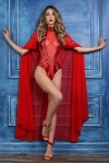 Coco Red Sheer Cape at Stripper Plus Clubwear, Stripper Clothes, Exotic Dancewear, Sexy Club Wear, Extreme Platform Shoes