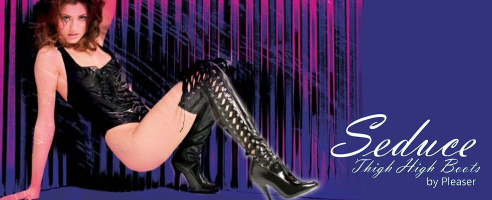 Seduce your audience in thigh high boots by Pleaser