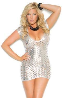 1eeb99689b8e Silver Foil Lame Party Dress. Our Price  28.95. Silver Suspender Mini Skirt  Stripper Plus Clubwear ...