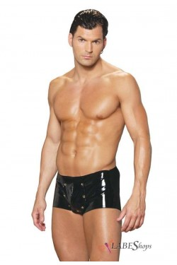 Breakaway Front Mens Vinyl Shorts Stripper Plus Clubwear Stripper Clothes, Exotic Dancewear, Sexy Club Wear, Extreme Platform Shoes