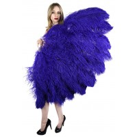 Purple Ostrich Feather Full Body Fan