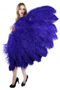 Purple Ostrich Feather Full Body Fan Stripper Plus Clubwear Stripper Clothes, Exotic Dancewear, Sexy Club Wear, Extreme Platform Shoes