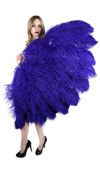 Purple Ostrich Feather Full Body Fan at Stripper Plus Clubwear, Stripper Clothes, Exotic Dancewear, Sexy Club Wear, Extreme Platform Shoes