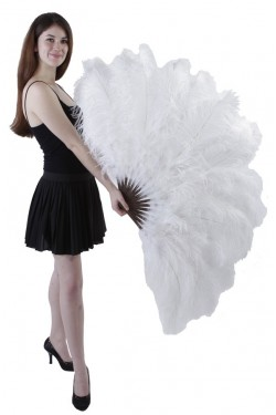 White Ostrich Feather Xtra Large Fan Stripper Plus Clubwear Stripper Clothes, Exotic Dancewear, Sexy Club Wear, Extreme Platform Shoes