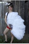 White Ostrich Feather Xtra Large Fan at Stripper Plus Clubwear, Stripper Clothes, Exotic Dancewear, Sexy Club Wear, Extreme Platform Shoes
