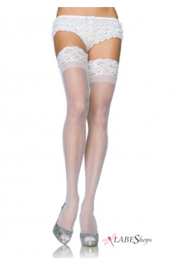 Sheer Stay Up Thigh High Stockings Stripper Plus Clubwear Stripper Clothes, Exotic Dancewear, Sexy Club Wear, Extreme Platform Shoes