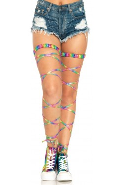 Rainbow Leg Wraps Stripper Plus Clubwear Stripper Clothes, Exotic Dancewear, Sexy Club Wear, Extreme Platform Shoes