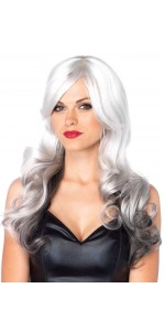 Allure Gray Wig with Black Tips