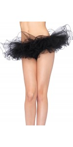 Tulle Swirl Edge Black Tutu Petticoat Skirt