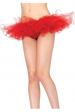 Red Tulle Swirl Edge Tutu Petticoat Skirt Stripper Plus Clubwear Stripper Clothes, Exotic Dancewear, Sexy Club Wear, Extreme Platform Shoes