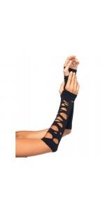 Black Shredded Arm Warmers